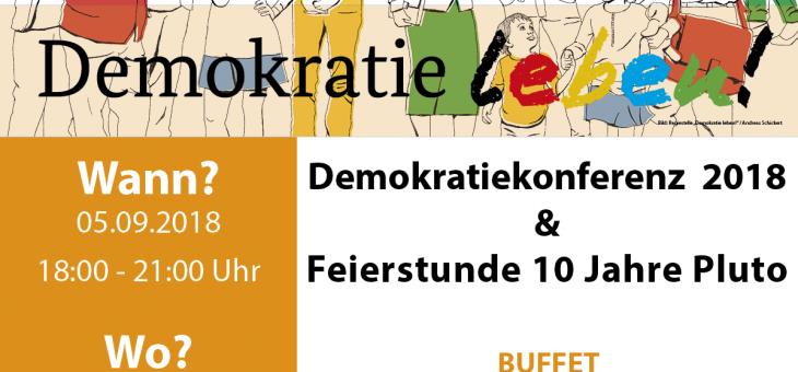 Demokratiekonferenz und 10 Jahre Stadtteilzentrum Pluto