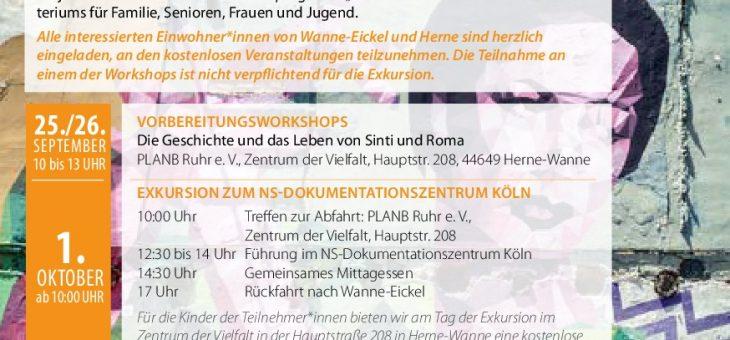 """Projekt """"Gegen das Vergessen! Geschichte und Leben von Sinti und Roma"""""""